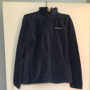 Men's Columbia Long Sleeve Fleece Jacket, Blue, LG